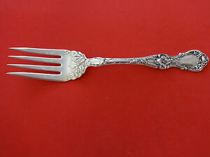 Floral By Wallace Plate Silverplate Cold Meat Fork 8
