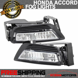 Fits 13 15 Honda Accord Sedan 4dr Oe Replacement Fog Lights Lamps Lh Rh