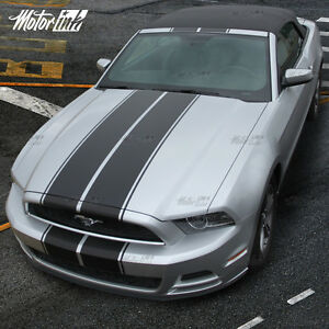 2013 2014 Ford Mustang Convertible Rally Racing Double Stripes Decal Pre Cut Kit