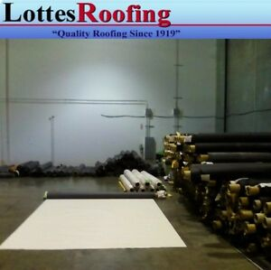 10 x100 60 Mil White Epdm Rubber Roof Roofing By The Lottes Companies