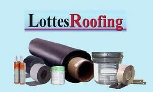 Epdm Rubber Roof Roofing Kit Complete 1 000 Sq ft By The Lottes Companies