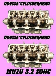 Pair Isuzu Rodeo Trooper 3 2 Sohc Cylinder Heads V6 12v Rebuilt