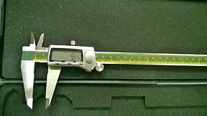 12 inch Digital Caliper With Fractional Display mm sae Extra Large