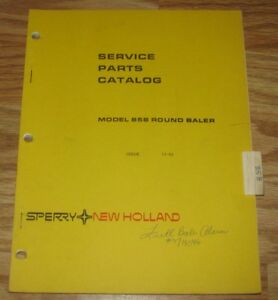 New Holland 858 Round Hay Baler Parts Catalog Manual Original Nh Book 5085810