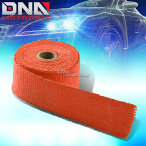 15ft 180 L 2 W Header Exhaust Turbo Intake Manifold Pipe Orange Heat Wrap Tape