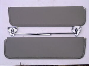 1956 56 Ford Truck F100 F250 Sun Visor Chrome Brackets New
