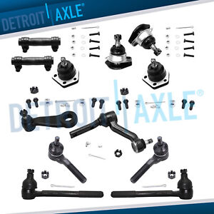 12pc Kit 4 Front Ball Joints Idler Arm Pitman Arm 4 Tie Rods Chevrolet Gmc 4wd