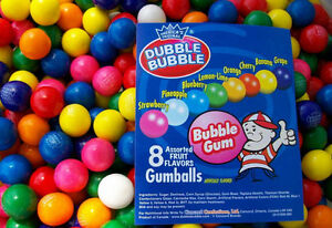 850 Assorted 1 Dubble Bubble Gumballs Fresh Bulk Vending Gum Ball Party Favors