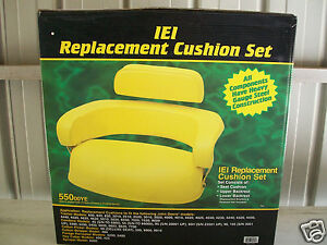 3 Piece Yellow Seat Cushion Set John Deere 3010 3020 4020 4320 5020 6030 7520 bf