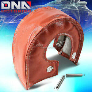 T4 T61 T67 Gt45 Turbo Turbocharger Exhaust Red Heat Shield Blanket Cover Wrap