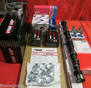 Chevy 327 Master Engine Kit 1968 69 Pistons Rings Bearings Cam Springs Gaskets