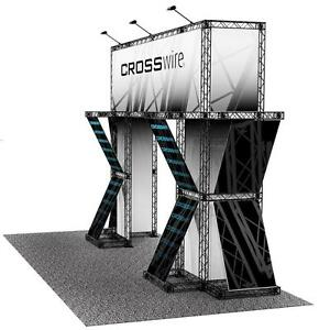 Portable Trade Show Truss Display 10 X 20 Exhibit Booth Crosswire Exhibits