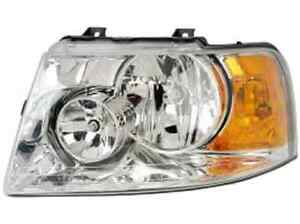 New Ford Expedition 2003 2004 2005 2006 Left Driver Headlight Chrome Housing