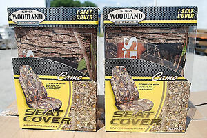 1 lot Of 2 King s Woodland Shadow Camo Universal Bucket Seat Covers New s4641
