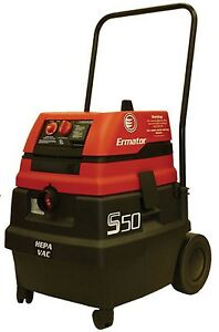 Ermator S50 Commercial Hepa Wet dry Vacuum With Power Tool Outlet