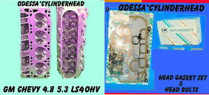 Gm Chevy 4 8 5 3 Ohv Ls4 Silverado Express Cylinder Heads Bolts gaskets 99 05