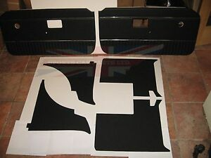 New 6 Piece Interior Panel Set With Door Panels Mgb 1970 80 Black With Chrome