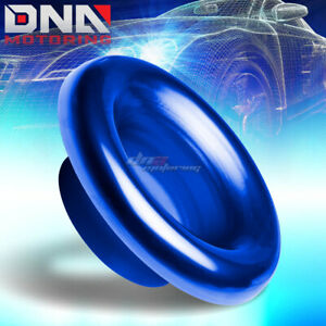 4 Anodized Aluminum Short Ram cold Air Intake Velocity Stack Turbo Horn Blue
