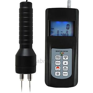 Pin Type Digital Moisture Wood Damp Detector Meter Soil Building Tobacco Tester