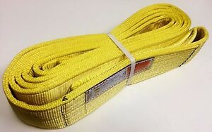 4 X 20 Tow Recovery Strap Lifting Sling Cargo Tie down Strap 2 ply