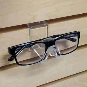 Clear Acrylic Slatwall Closed Interlocking Eyeglass Sunglass Holder 25 Pieces