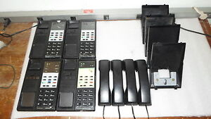 Samsung 7b Keyset Hearing Aid Compatible Phone W Base Lot Of 4 Tested