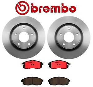 Brembo Front Brake Kit Disc Rotors And Ceramic Pads For Nissan Altima 2007 2013