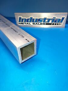 2 X 36 long X 1 4 Wall 6061 T6 Aluminum Square Tube 2 X 250 Wall