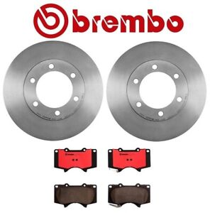 For Toyota Tundra Front Left Right Brake Kit Rotors Pads For 13wl Brembo