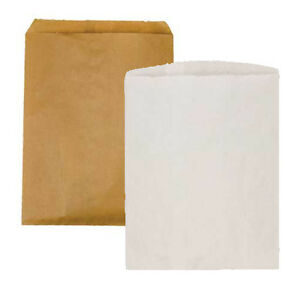 1000 White Paper Bags Retail Store Sales Multipurpose Craft Bags 8 5 X 11