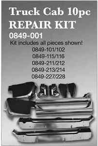 Truck Cab Repair Kit 67 72 Chevy Gmc Pickup Key Parts 0849 001
