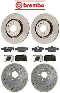 Mercedes W220 S430 2003 2006 Front And Rear Disc Brake Rotors Pads Kit Brembo