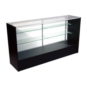 Economy Black Glass Display Case Showcase 72 L New York Pickup Only