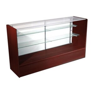 Economy Walnut Cherry Glass Display Show Case 70 L New York Pick Up Only