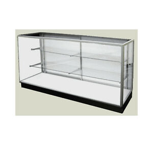 Economy Extra Vision Glass Display Case Showcase 48 L New York Pickup Only