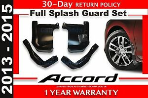 Genuine Oem Honda Accord 4dr Sedan Splash Guard Set 2013 2015 08p00 T2a 101