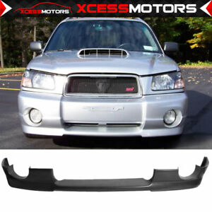 For 03 05 Subaru Forester Sg5 Ds Style Urethane Front Bumper Lip Spoiler