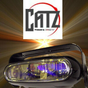 2 X Single Unit Fet Catz Msx 93 Deg Yellow Gold Fog Lights Fits Piaa 1500