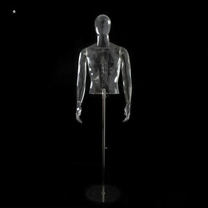 Transparent Male Stand Plastic Mannequin qianwan Displays