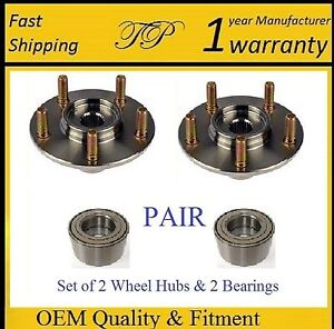 Front Wheel Hub Bearing Kit For 2003 2016 Toyota Corolla pair