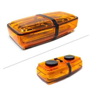 Amber Mini Light Bar Magnet Mount Amber Lens Replacement For Buyers 8891050