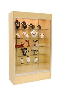 Wall Glass Display Case Showcase W Light 78 Maple New York Pickup