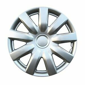 Kt Abs Plastic Aftermarket Wheel Cover 15 Silver 4 Piece Kt985 15sl
