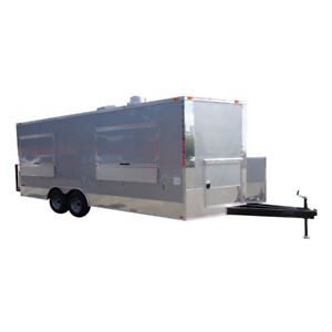 Concession Trailer 8 5 X 20 silver Frost Vending Enclosed Catering Kitchen