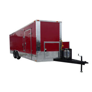 Concession Trailer 8 5 x20 Red Custom Vending Food Catering