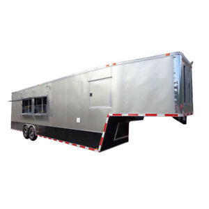 Concession Trailer 8 5 x36 Gray Gooseneck Enclosed Event Food Kitchen