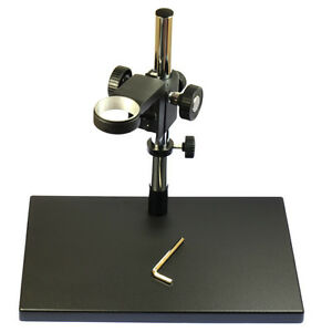 Big Heavy Duty Metal Boom Stereo Microscope Camera Table Stand Holder 50mm Ring