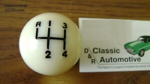 Shift Ball Knob White 5 16 Coarse Thread 4 speed Shifter in Stock Fits Muncie