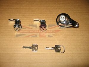 New Door Trunk Lock Set W Keys Mgb 1965 1980 Matched Key Locks Made In The Uk