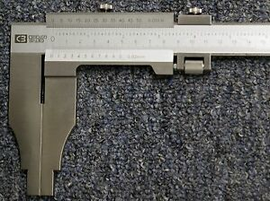 24 Vernier Caliper Reads To 001 02mm 1 Year Warranty Chicago Brand 50016